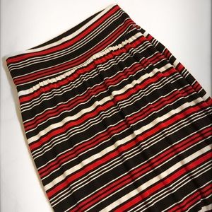 New Directions Red/White/Black Maxi Skirt